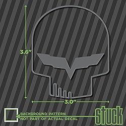 """Jake Skull Outline SMALL - 3.0""""x3.6"""" - vinyl decal sticker"""