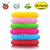 OTBBA Mosquito Repellent Bracelet (18 Pack), 100% Natural Deet-Free Fit Kids, Adults & Pets Waterproof Travel Insect Repellent Bands, Lasts Up To 300 Hours