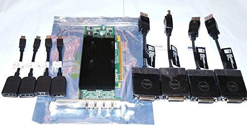 Matrox M9148-E1024LAF M9148 LP PCIe x16 1GB Memory Mini DP Port*4 Professional Video Card