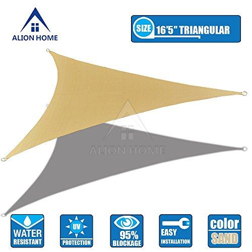 Alion Home Waterproof Woven Sun Shade Sail - Desert Sand (16 ft 5