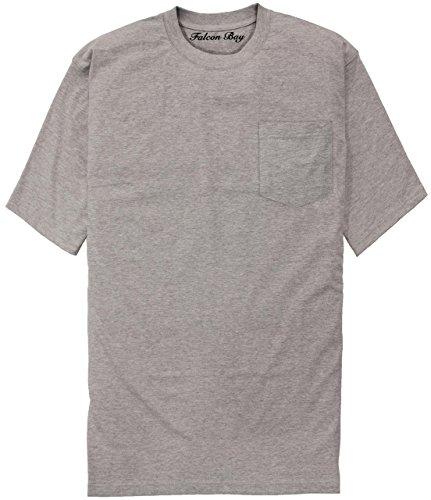 (Falcon Bay 100% Cotton Pocket T-Shirt GRAY 6XLT #481D)