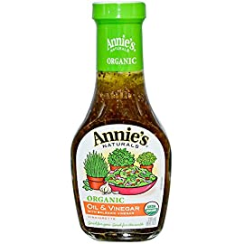 Annie's Naturals, Organic Oil & Vinegar with Balsamic Vinegar Vinaigrette, 8 fl oz pack of 2 1 USDA Organic Good for You. Good for The Earth Certified Organic