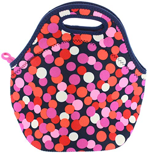 BUILT NY Gourmet Getaway Neoprene Lunch Tote (Dot Candy Navy) from Built