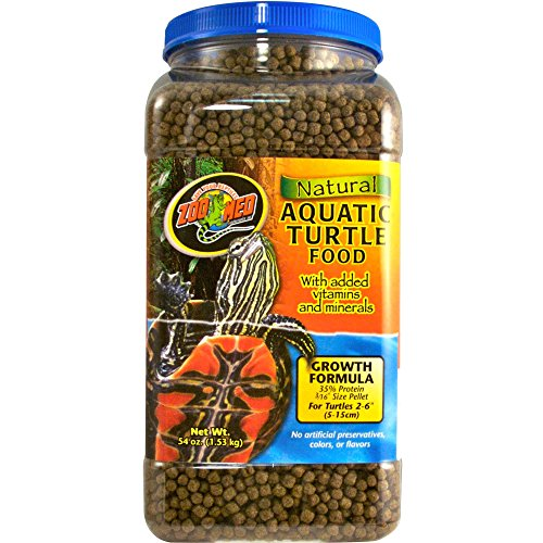 Zoo Med Natural Aquatic Turtle Food, Growth Formula, 54-Ounce Zoo Natural