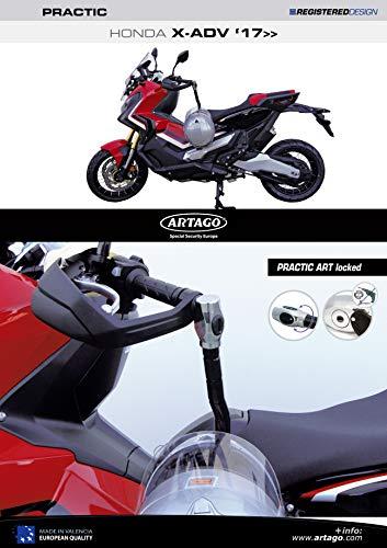 art4 artago 69t2/Cadenas antivol Disque Haute Gamme et Support pour Yamaha mt-07/et Tracer 700 Sold Secure Gold Double Fermeture /Ø 15/homologu/é SRA M/étallique