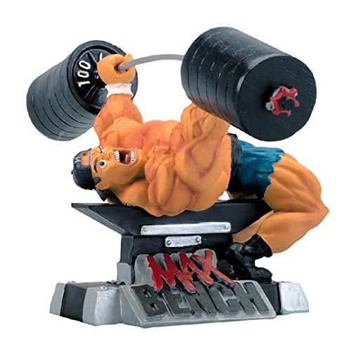 New MAX Bench Xtreme Figurine Bodybuilding Weightlifting Collectible Statue (Weightlifting Figurines)