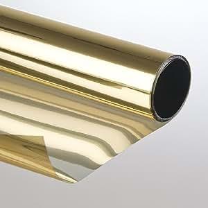 LED-Gigant 3007522001 - Adhesivo para ventanas (protector solar, efecto espejo, tintado, 75 x 300 cm), color bronce