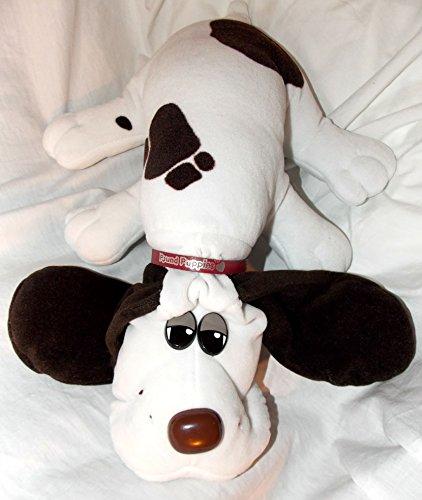 vintage-pound-puppies-18-plush-white-pound-puppy-dog-with-dark-brown-spots-and-long-dark-brown-ears