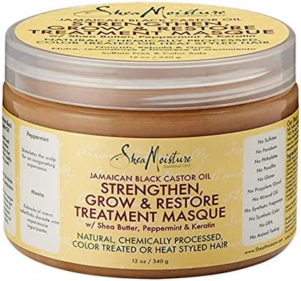 Shea Moisture Jamaican Black Castor Oil Intensive Strengthening Masque, 12 Ounce