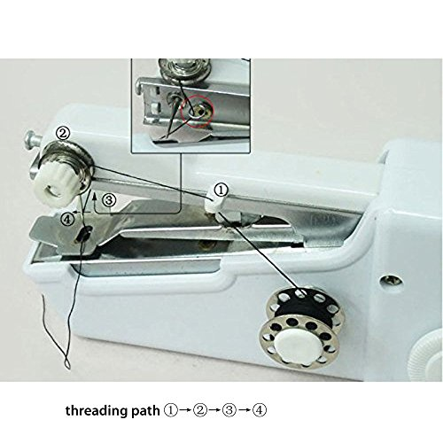 Amazon Mini Portable Sewing Household Handy Quick Stitch Best How To Thread Handheld Sewing Machine