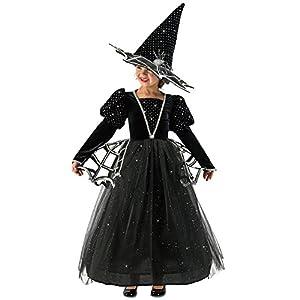 - 51vULK2i6BL - Girls Diamond Witch Glitter Halloween Costume