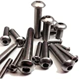 8mm Button Head Bolts (5 Pack) M8 x 35mm A2 Stainless Steel Socket Allen Key Dome Head Bolt / Screws Free UK Delivery