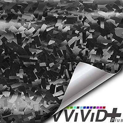 VViViD+ 2020 Edition Forged Black Composite Carbon Vinyl Wrap Roll (1ft x 5ft): Automotive
