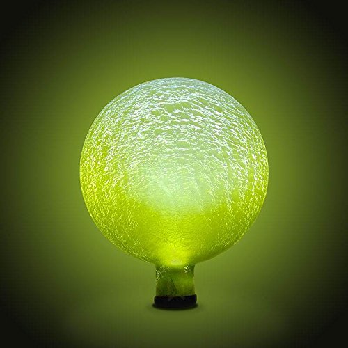 Achla Designs Solar Gazing Globe, 10-Inch, Lemon Drop Frosted by Achla by Achla