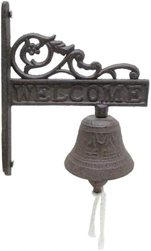 perfecti Cloche Porte Dentr/ée Cloche D/écor/ée pour Porte Maison De Campagne Cloche Murale en Fonte Antique Floral Sonnette De Porte