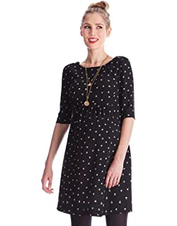8333fffaa1b1d Seraphine Women's Striped Maternity & Nursing Dress at Amazon ...