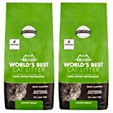 World's Best Cat Litter 28 lbs Easy Scooping, Odor Control Clumping Formula, 2 Pack