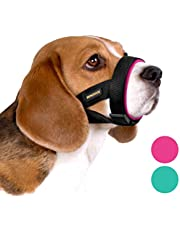 BRONZEDOG Soft Padded Dog Muzzle Adjustable Neoprene Comfort Bitting Chewing Pet Muzzles for Small Medium Large Dogs Puppy