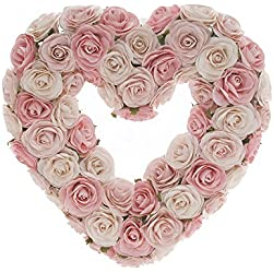 Sweet Potato Rosebud Heart Wreath Gift Set, Pink