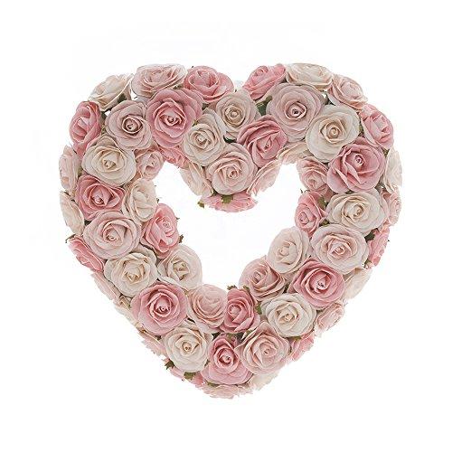Sweet Potato Rosebud Heart Wreath Gift Set, Pink