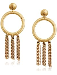 Womens O Tassel Earrings