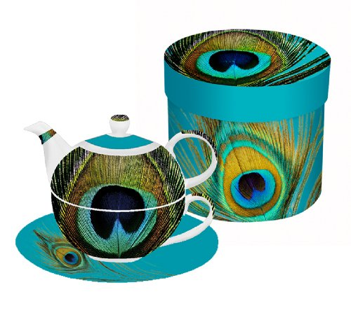 Paperproducts Design Paradise Peacock Teapot