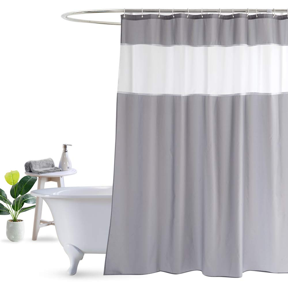 Amazon UFRIDAY Shower Curtain Grey And White Modern Fabric 48 X 72 Inch Home Kitchen