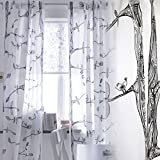 Tree Pattern Curtains (1pair), Each Panel Measures 98″ long and 55″ wide Review