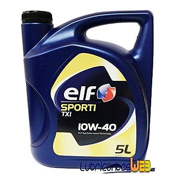 Aceite lubricante coche Elf Sporti TXI 10w40 5Ltrs