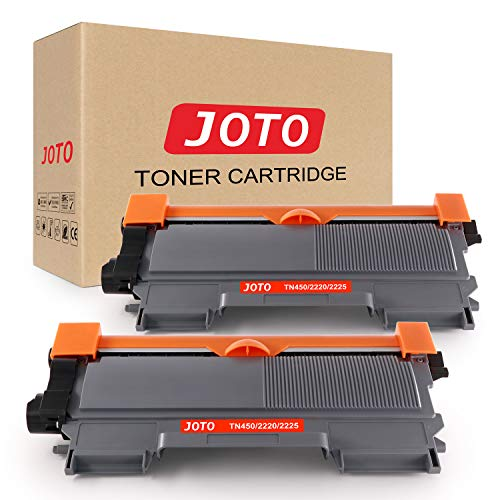 JOTO Compatible Toner Cartridge Replacement for Brother TN450 TN-450 TN 450 TN420 TN-420 HL-2270DW HL-2280DW HL-2230 HL-2240D HL-2240 MFC-7860DW MFC-7360N MFC-7460D (Black, 2 Pack, High Yield)