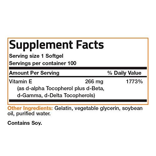 Bronson Natural Vitamin E Complex 400 I.U. (D alpha Tocopherol)