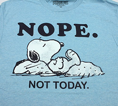 amazon com peanuts men s snoopy nope not today t shirt clothing