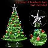 Gejoy 261 Pieces Plastic Ceramic Christmas Tree