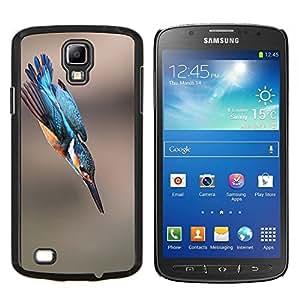 Vuelo del pájaro azul borroso Naturaleza Verano- Metal de aluminio y de plástico duro Caja del teléfono - Negro - Samsung i9295 Galaxy S4 Active / i537 (NOT S4)