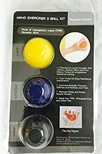 Therapist's Choice® Hand Exercise 3 Ball Kit: 3 Color Coded Resistance Levels