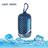 Amariver Stay Cooling Towel, Large Size Cool Towel for Instant Cooling Relief, Ice Wet Towel Ice Cold Scarf for Men and Women Outdoor Sports Yoga Golf Travel Gym Hiking Camping (Dark Blue)