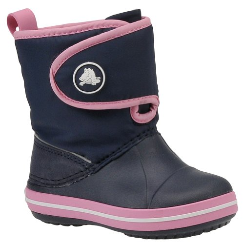 Crocs Crocband Gust Boot Kids, Boots mixte enfant Navy/Pink Limonade