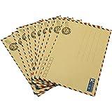 Hybsk(TM) 10 pcs Sheets Envelope Postcard Letter Stationary Storage Paper AirMail Vintage (Tan)
