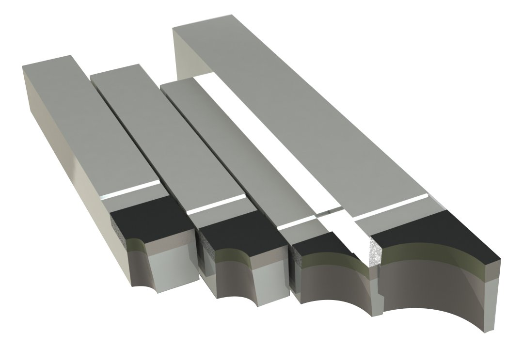Micro 100, RAL-21, Brazed Tool Right Hand Square Shank Diameter Concave Radius 'Style RAL' (Set of 4 Includes: 1/16', 1/8', 1/4' and 3/8' Radius) Brazed Tool Right Hand Square Shank Diameter Concave Radius Style RAL (Set of 4 Includes: 1/16 1/8
