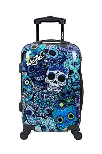 Amazon.com | Carry-on Cabin Luggage 55x35x20 Suitcase 20 inch Approved Lightweight 4 Wheel Hard Case Kids Small Size Children Powerbank Charger Prepared ...