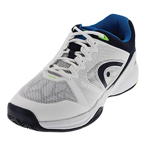 HEAD Revolt Pro 2.0 Men's Tennis Shoes, White/Blue, 9 (Shoes Mens Pro Tennis)