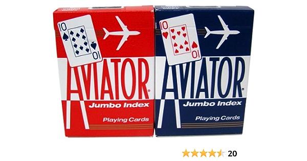 Aviator jeu cartes Club Special 52 Feuilles de 2 Jumbo Index Aviator Poker 917