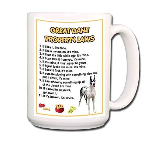 Harlequin Coffee (Great Dane Property Laws Coffee Tea Mug 15 oz No 2 Harlequin)