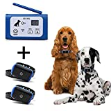 PETSO Wireless Dog Fence System for 2 Dogs, Electric Pet Containment System for Dog and Pets with Waterproof and Rechargeable Training Collar Receiver for Two Dogs Boundary Container