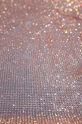The Buckle Boutique Dazzling Diamond Self Adhesive Sticker Sheet, Big, Rose Gold (Rhinestone Peel And Stick)