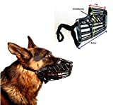 Basket Cage Dog Muzzle Size 6 - X-LARGE - Adjustable Straps - BLACK - by Downtown Pet Supply