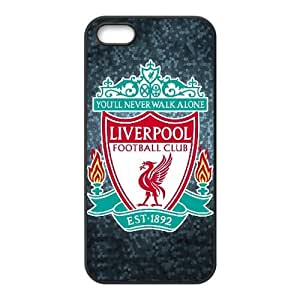 Funda iPhone 4 4s caso funda de teléfono celular Negro Liverpool Logo W5X5EX