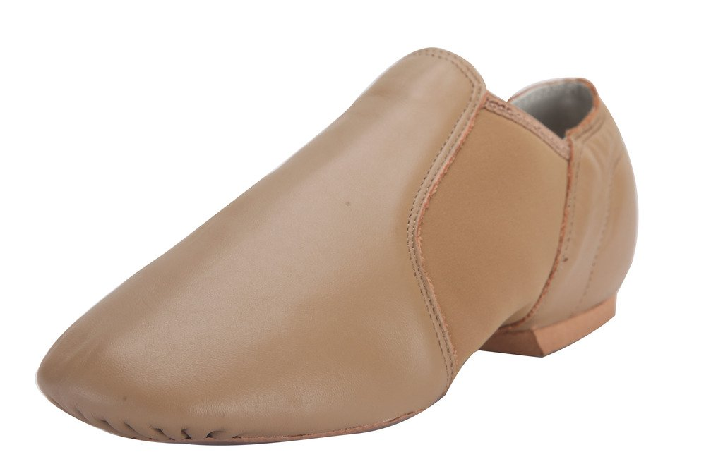 Tent Leather Upper Jazz Shoe Slip-on Brown 8M