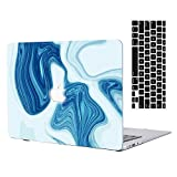 2016 Ver MacBook Pro 13''Retina Case,AICOO Abstract Ink Hard Case Cover with Keyboard Protector for Laptop Apple MacBook Pro 13.3(A1706/A1708) with/Without Multi-Touch Bar&Touch ID,Dark Blue 2
