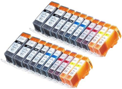 20 Pack Compatible CLI 221 , CLI-221 , CLI221 , PGI 220 , PGI-220 , PGI220 4 Small Black, 4 Cyan, 4 Magenta, 4 Yellow, 4 Big Black for use with PIXMA Ip3600, PIXMA Ip4600, PIXMA Ip4700, PIXMA MX860, PIXMA MX870. PIXMA Ip 3600, PIXMA Ip 4600, PIXMA Ip 4700, PIXMA MX 860, PIXMA MX 870.. Ink Cartridges for inkjet printers. Blake Printing Supply -